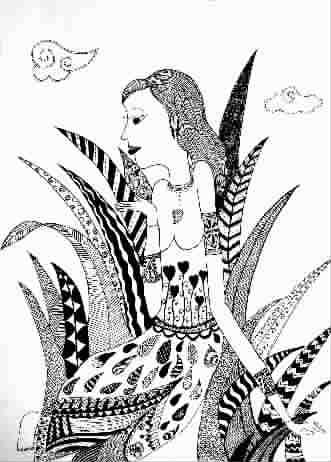 少女(儿童画)
