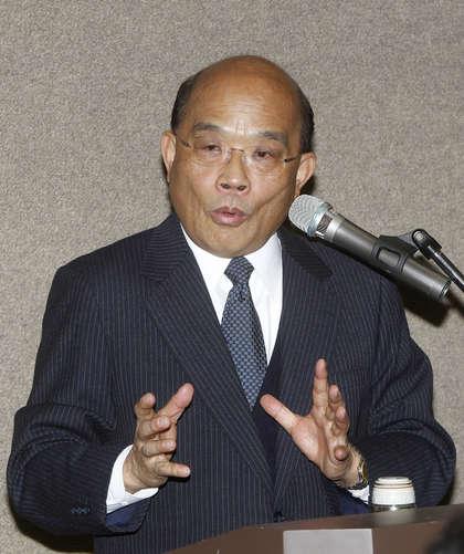 台湾民进党主席苏贞昌谈湖南卫视我是歌手节目,他认为台湾民众应警惕大陆的