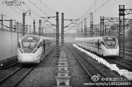 ...到达杭州动车运用所.如不出意外这两列车将从本周开始参加...