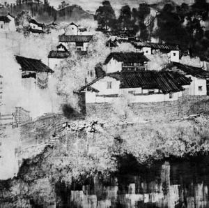 凤凰籍著名画家黄永玉湘西写生作品