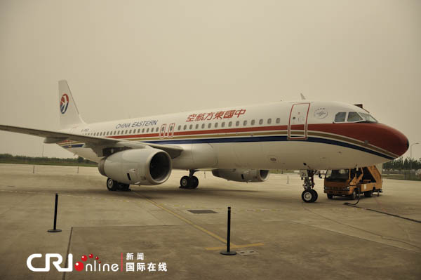 中国首架鲨鳍小翼空客a320飞机交付使用(组图)