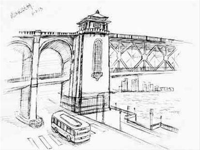 图为:长江大桥
