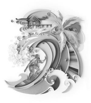 纸雕凤凰步骤图片