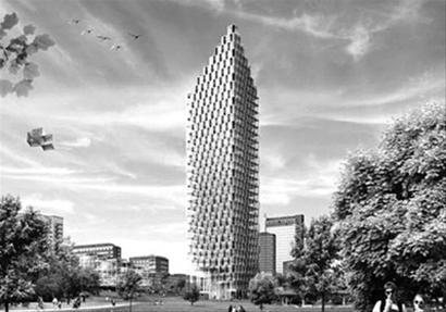 """> 正文   原标题:瑞典欲建全球最高实木大厦 纯木结构摩天大楼""""大木头"""