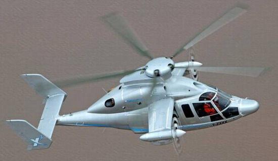 正在进行试飞的X3混合动力直升机 国际在线专稿:据德国《图片报》6月19日报道,欧洲直升机公司(Eurocopter SA)日前在法国试飞了最新的X3混合动力直升机,实际测得爬升速度为每分钟2130米,前进速度为每小时472公里,超过了F1赛车的时速。 欧洲直升机公司创建于1992年,由法国宇航和戴姆勒-克莱斯勒宇航两家公司的直升机事业部合并而成,目前是欧洲宇航防务集团(EADS)下属的全球最大的直升机制造公司。