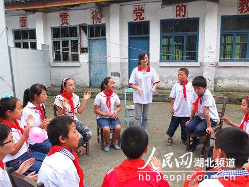 雅安一高校短文赴武汉芦山为小学生提供心理辅导v短文学生小学图片