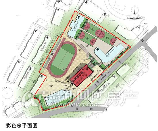 青岛四中拆除重建教学楼平面图