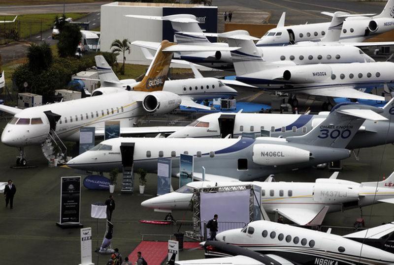 巴西举办拉美公务航展 豪华私人飞机夺眼球(组图)