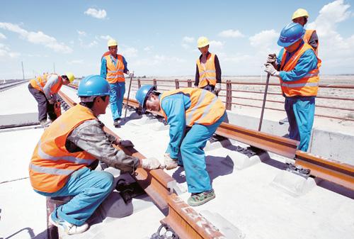 铁路第二双线(兰新高铁)新疆哈密红柳河至哈密红层段无砟轨道
