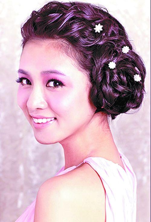 新娘古代发型步骤图解
