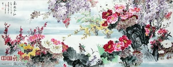 梁永和书画作品-著名书画大师梁永和在澳大利亚举行 红楼梦中人 画展