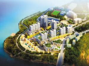黄石镇半岛休闲商贸区鸟瞰图 规划图高清图片