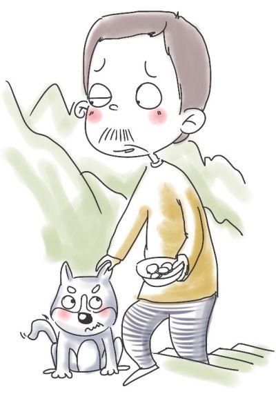 卡通乞丐简笔画