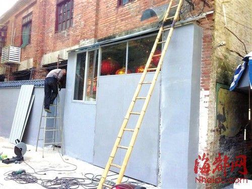 红砖大门围墙效果图