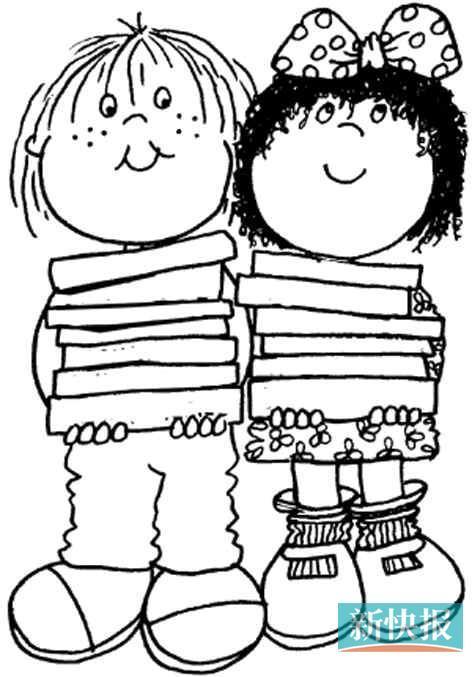 幼儿园看书步骤图简笔画