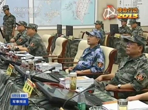 央视曝光对台作战地图的视频截图