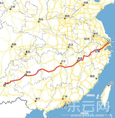 3年后昆明到上海坐火车8小时经停曲靖站、富