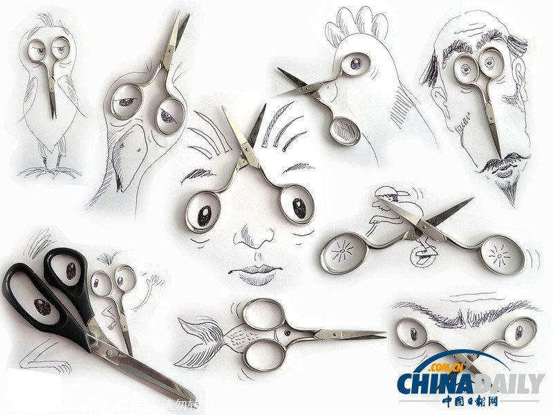2014年2月10日报道,艺术家维克托努内斯把铅笔画与生活中的平凡物品相结合,创作出一幅幅令人惊叹的插画作品。他使用常见的事物如爆米花、坚果、葡萄、剪刀等来充当画面人物或动植物的一部分,各个栩栩如生,形态逼真。65岁的维克托努内斯来自巴西圣保罗,他从1971年开始一直从事广告设计及艺术指导的工作。(图片:东方IC)