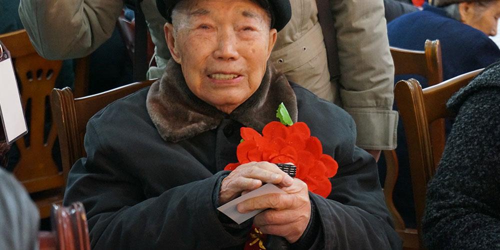 抗日战争纪念上的赵赠熊感慨万千