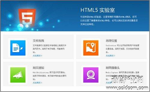 图2:HTML5实验室四大特性测试