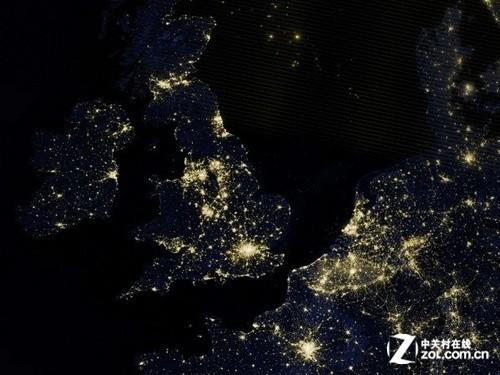 nasa再出神作 曝最清晰地球夜景卫星照片