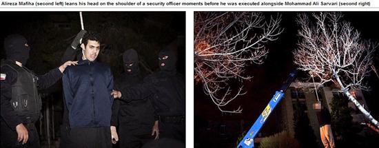 马菲 视频/马菲哈和萨瓦利被绞刑处死(网页截图)