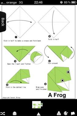 小青蛙折纸 图解 步骤