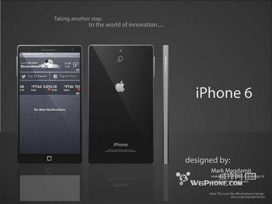 iphone 6概念设计曝光 大屏轻薄窄边框
