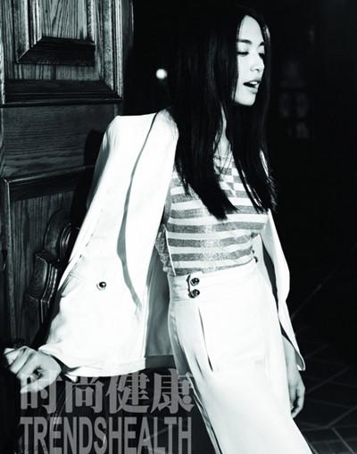 姚晨登《时尚健康》杂志6月号