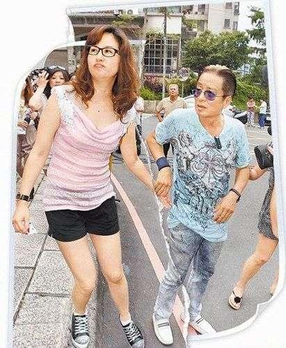 高凌风(左)与金友庄现已离婚