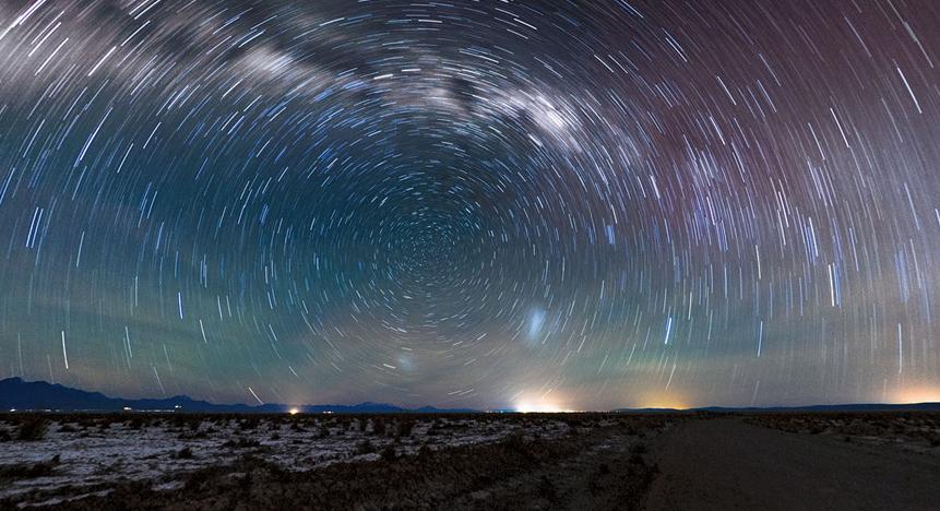 阿塔卡马沙漠夜景