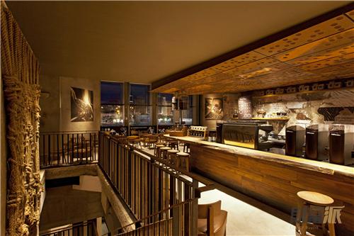 星巴克咖啡店效果图_星巴克咖啡厅吧台设计_星巴克咖啡厅吧台设计分享展示