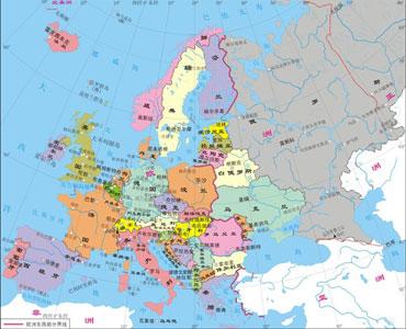 再看一看这副图,这是2003年欧洲的政区图.