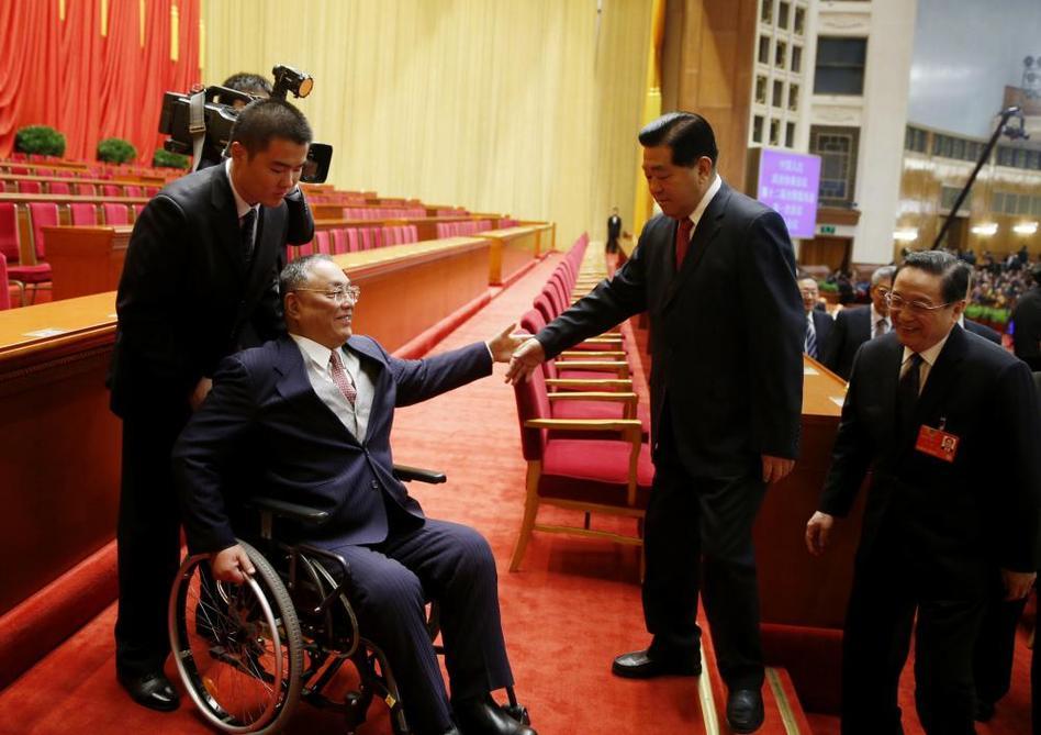 邓朴方图片_贾庆林、俞正声与邓朴方在主席台上互相礼让_资讯频道_凤凰网