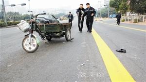 三轮车被撞瞬间遭神秘转移_三轮车被撞飞 骑车老人身亡